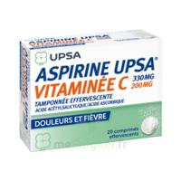 ASPIRINE UPSA VITAMINEE C TAMPONNEE EFFERVESCENTE, comprimé effervescent à Paris