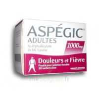 ASPEGIC ADULTES 1000 mg, poudre pour solution buvable en sachet-dose 20 à Paris