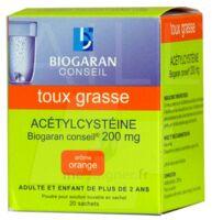 Acetylcysteine Biogaran Conseil 200 Mg Pdr Sol Buv En Sachet B/20 à Paris