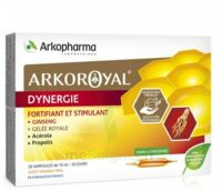 Arkoroyal Dynergie Ginseng Gelée royale Propolis Solution buvable 20 Ampoules/10ml à Paris