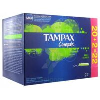 TAMPAX COMPAK, super, bt 22 à Paris