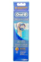 BROSSETTE DE RECHANGE ORAL-B PRECISION CLEAN x 3 à Paris