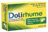 DOLIRHUME PARACETAMOL ET PSEUDOEPHEDRINE 500 mg/30 mg, comprimé à Paris
