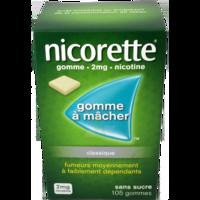 NICORETTE 2 mg Gom à mâcher médic sans sucre menthe fraîche Plq/105gom à Paris