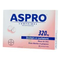 ASPRO 320 mg, comprimé à Paris