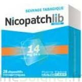 NICOPATCHLIB 14 mg/24 h Dispositifs transdermiques B/28 à Paris