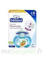 Bebisol Slim - Sucette physiologique silicone jour +6mois bleu T2 à Paris