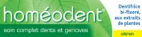 Boiron Homéodent Soin Complet Dents et Gencives Pâte Dentifrice Citron 2T/75ml à Paris